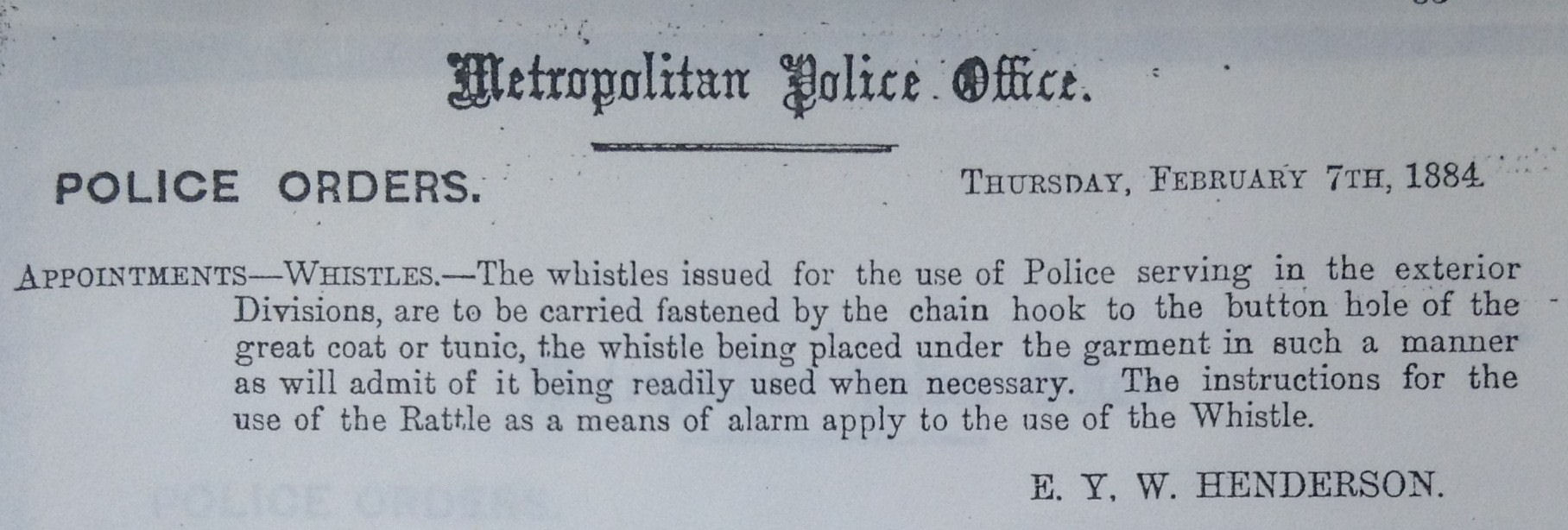 dating police whistles This offers a reliable method of dating a particular whistle royal irish constabulary hudson police whistles showing three types by company addtress.
